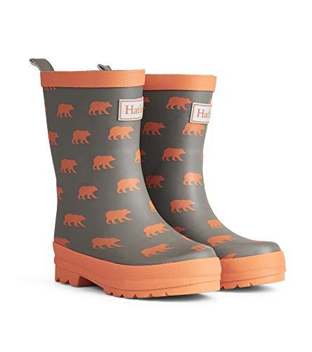 Hatley Boys' Big Silhouette Bears Matte Rain Boots, 1 US