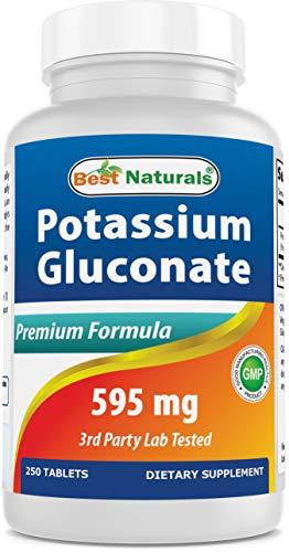 Best Naturals Potassium Gluconate Supplement 595 Mg Tablet, 250Count