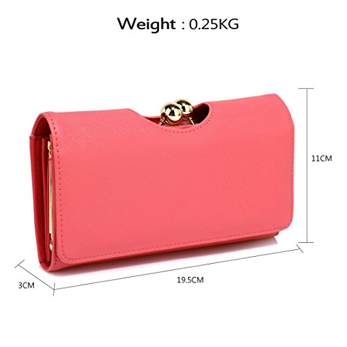 Wallet 50 Clutch Gorgeous SAVE DELIVERY FREE UK Kisslock Red CtWnWqZ