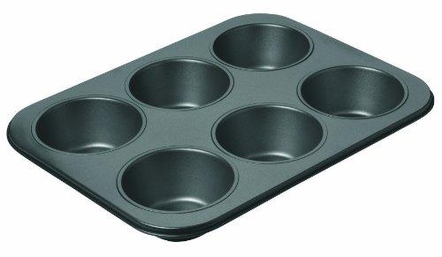 Chicago Metallic Professional 6-Cup Non-Stick Muffin Pan, 14-Inch-by-10.25-Inch (Chicago Metallic Steel Muffin Pan)