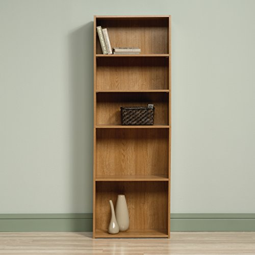 Sauder Beginnings 5 Shelf Bookcase Highland Oak Finish Deal (Large Image)