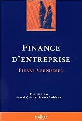 FINANCE D'ENTREPRISE. 3ème édition 1998