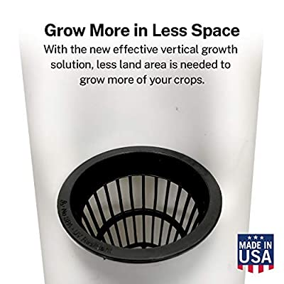 SuiteMade PVC Vertical Grow Tower Add-on for Hydroponics, Aeroponics, Aquaponics System + 2