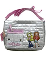 Fashion for Passion Bratz Messenger Bag - urban fashion designer style with quilted fabric & embroidery (Pink)