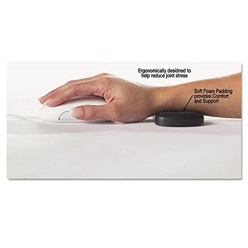 MOT ComfortMakers 99504 Rolling Wrist Rest, 5 x 2 1/2 x 5/8, Black ()