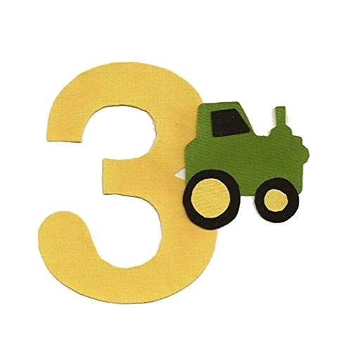 green applique numbers - 4