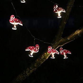 Amazoncom Outdoor LED String Lights Flamingo Fairy Lights