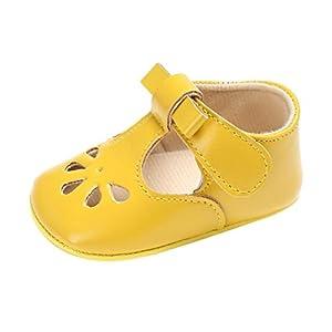 SHOBDW Girls Shoes, Toddler Baby Infant Kids Fashion Bowknot Soft Sole Crib Soft Sandals Newborn Anti-Slip Hook Loop…