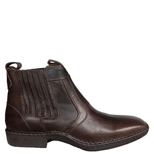 Brunello's Casual Western Boot in Coffee Brown- Made in Brazil
