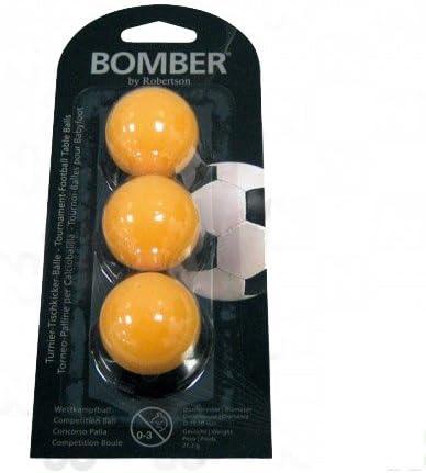 ROBERTSON Bola futbolin bomber naranja 3 unid 35mm: Amazon.es: Deportes y aire libre