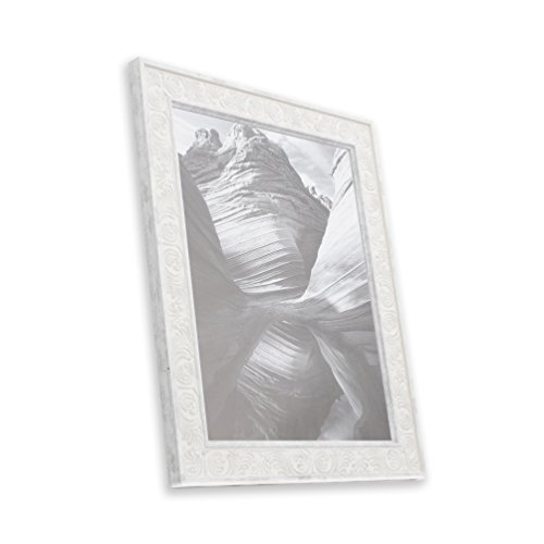 4x6 Picture Frame Distressed White - Mount Desktop Display, Frames by EcoHome