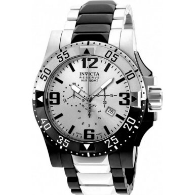 Invicta Excursion Chronograph Silver Dial Two-tone Mens Watch (Two Tone Chronograph Silver Dial)