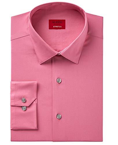 Alfani Spectrum Men's Slim-Fit Dress Shirt (14-14.5 X 32/33, Pink Clover) from Alfani