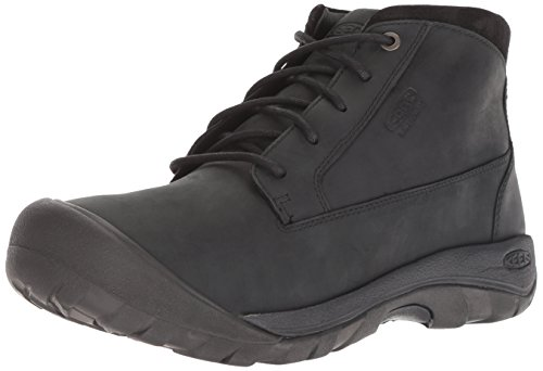 (KEEN Men's Austin Casual Waterproof Fashion Boot, Black/Raven, 11.5 M)