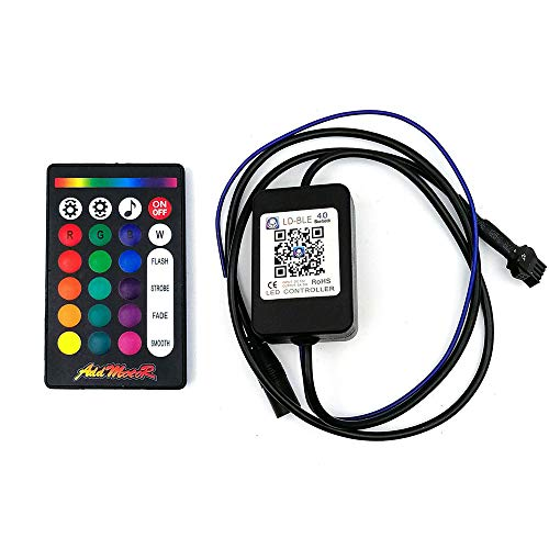 Addmotor Motorcycle LED Light Strip Kit RGB 18pcs Multicolour Remote App Cotrol Flexible Strip Kit with Music Sync for Universal Motorcycle (18pcs Remote App Control) by Addmotor (Image #4)