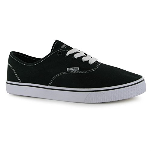SoulCal Mens Sunset Lace Up Canvas Shoes Fastening Casual Bold Eyelets Black/White 5THeGZlz