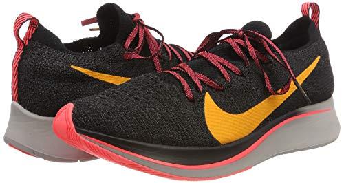 Nike Men's Zoom Fly Flyknit Black/Flash Crimson/Orange Peel Nylon Running Shoes 7.5 M US by Nike (Image #5)