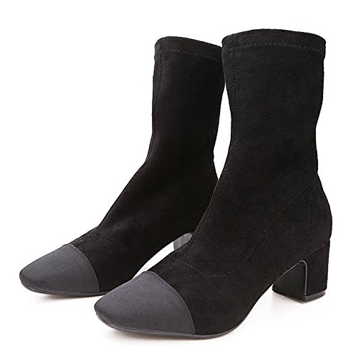 Zapatos Lycra Femeninos Todo Botas CincoBlack Pedal Cálido Con Partido PlazaTreinta Botas Medias Con KHSKX Los Estudiantes Elásticas Invierno Coreanos En Cashmere Gruesas Y d4S5nOxq