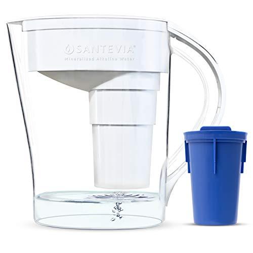 Santevia Water Systems Alkaline Pitcher - MINA Slim White