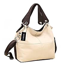 Tibes Women Splicing Handbags Simple Shoulder Bags Stylish Tote Purse Bag