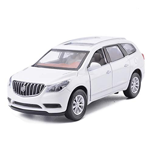 HTDZDX 1:32 Encore Off-Road Vehicle Alloy Car Model Sound and Light Pull Back Four-Door Alloy Toy Car, Kids' Motor Vehicle Playsets (Color : White)