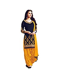 Ready Made Patiala Salwar Embroidered Cotton Salwar Kameez Suit India