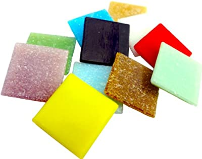 Mosaic Mercantile Assorted Colors Glass Tile, 3-Pound from Mosaic Mercantile