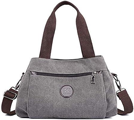 Amazon.com: SJMMBB - Bolso para mujer, bolsa de lona, bolsa ...