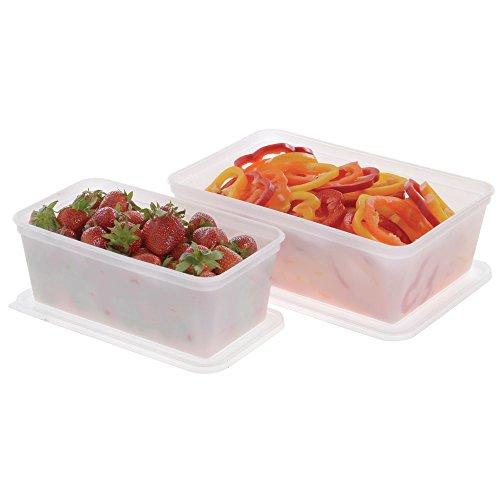 Plastic Food Storage Container 4 Qt Translucent- 12 5/8 L x 8 1/4 W x 4 1/4 D by J F C MANUFACTURING INC