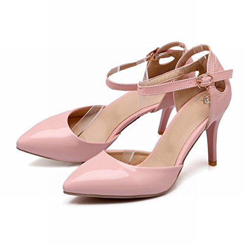 Carolbar Women's Grace Fashion High Heel Stiletto Pointed Toe Court Shoes Pink KTOymPXgEX