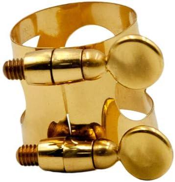 Alto Ligadura para Boquilla Abrazadera Saxofon ,Metal Abrazadera Clip De Ligadura para Boquilla De Saxof/ón De Dorado