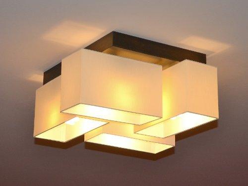 Deckenlampe Deckenleuchte Lampe Leuchte 4 Flammig TOP Design Merano B4MIX  (Creme   Braun): Amazon.de: Beleuchtung