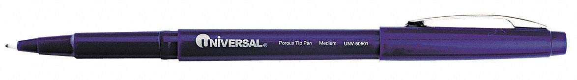 Stick Medium-Point Porous Point Rollerball Pen, 0.7mm, Blue - Pack of 5