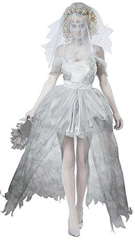 [MV Women The Phantom Bride Movie Ghost Halloween Costume Role-playing Suit Mummy Art Service Clothing] (Ghost Mummy Costume)
