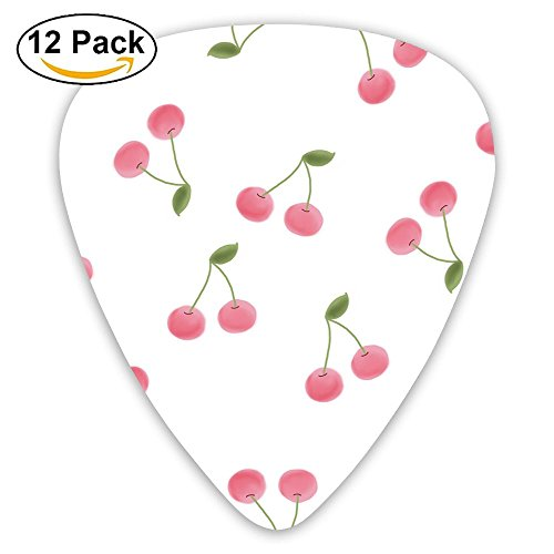 12-pack Fashion Classic Electric Guitar Picks Plectrums Cerezas Pictuer Instrument Standard Bass Guitarist ()