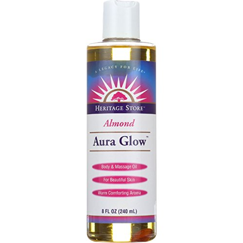 Oil Olive Heritage Store - Aura Glow Massage Oil-Almond Heritage Store 8 oz Liquid