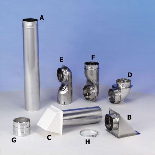 Builders Best 010638 4'' X 24'' Rigid Aluminum Pipe
