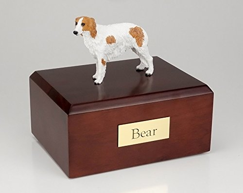 GENUINE North American Hardwood and Borzoi Figurine Urn Xlarge
