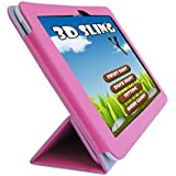 """iShoppingdeals - for Le Pan Mini 8"""" Tablet (Model TC802A Only) Folding Folio Skin Cover Case, Tulip Pink"""