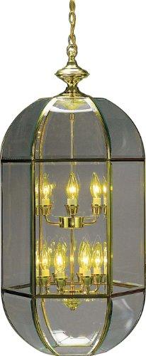 (Volume Lighting V5055-2 10-Light Chandelier, Polished Brass)