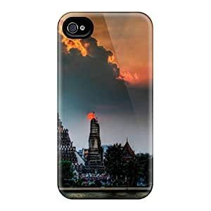 Rugged Skin Case Cover For Iphone 4/4s- Eco-friendly Packaging(ancient Church)