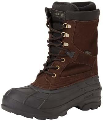 Kamik Men's Nationplus Snow Boot,Dark Brown,7 M US