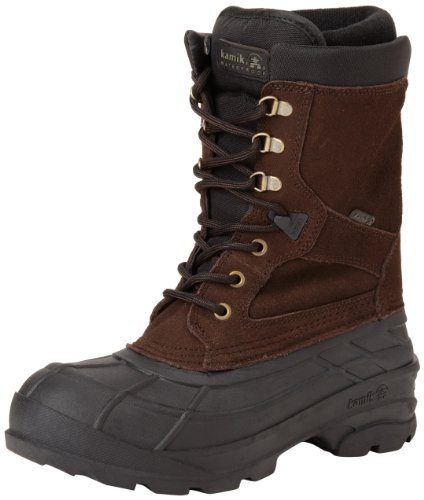 Kamik Men's Nationplus Snow Boot,Dark Brown,8 M US (8 Size Snow Men Boots)
