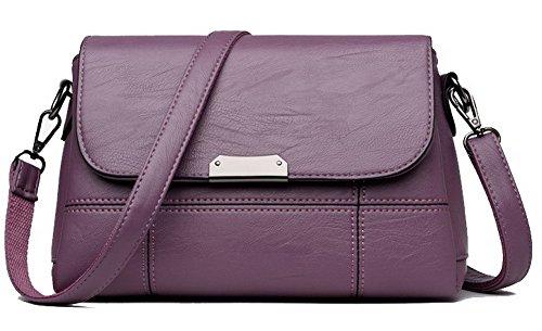 Violet Noir Femme Sacs Achats tout CCAFBO181607 bandoulière Stitching fourre Sacs VogueZone009 Contrast à n7wPSfxPUH