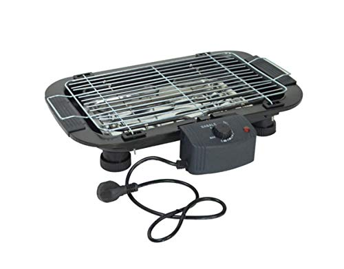 (TabEnter BBQ Grill, Dual-Purpose Grill, Can be Grilled with Charcoal, Can Also Use Electricity, Home Smokeless Barbecue Tray, Suitable for 3 to 5 People (Black))