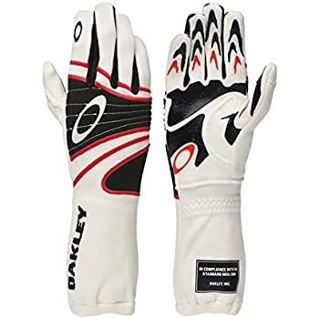 Oakley FR Nomex Driving Racing Gloves Extra Large White - 94106-100-XL