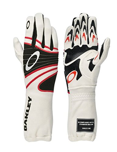 Oakley FR Nomex Driving Racing Gloves Large White - 94106-100-LG