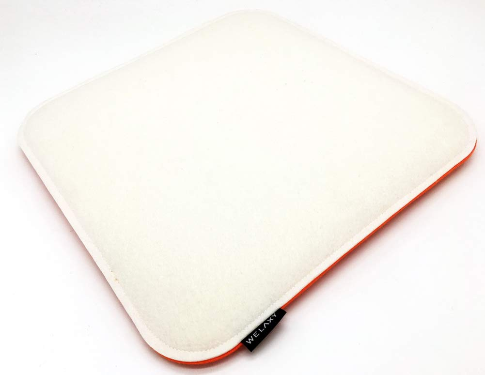 44c86f8bc7d8e Welaxy Felt seat Cushion for Eames Chair DSW Pads for Office Indoor Home  Dining Kitchen (White + Orange)