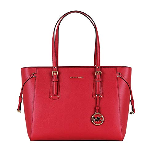 MICHAEL Michael Kors Voyager Medium Multifunction Top-Zip Tote (Bright Red) ()