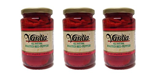 Fire Red Pepper (Vantia All Natural Roasted Red Peppers - 3 Glass Jars)